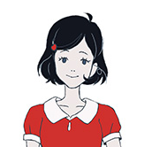黒髪の乙女